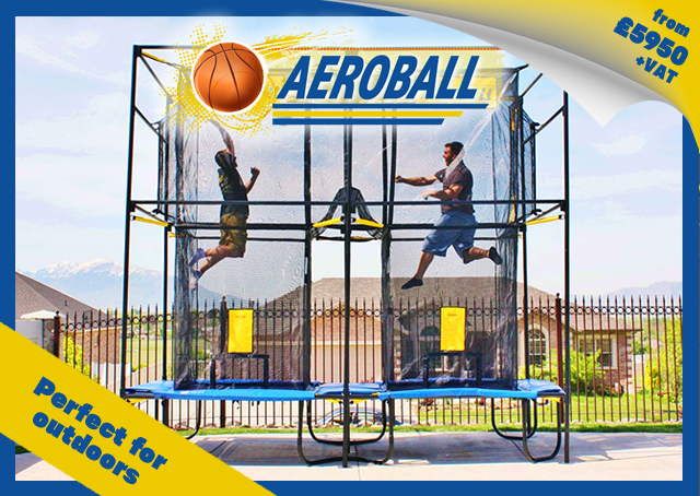 Aeroball, from £5950+VAT, perfect for outdoors, farm attraction, farm park, basketball, volleyball, trampoline